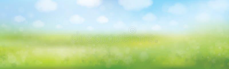 Wektorowy lato natury tło ilustracja wektor