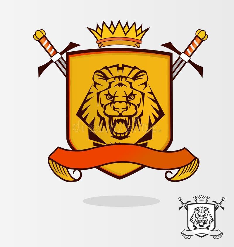 Wektorowy lew royalty ilustracja