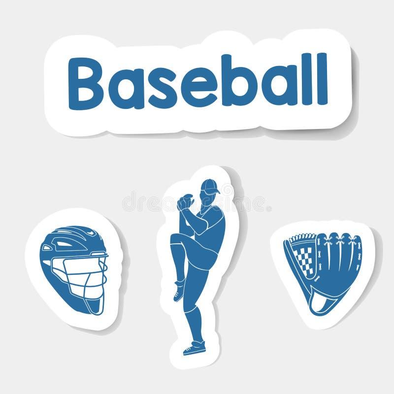 Wektorowy loga baseball na lekkim tle ilustracji