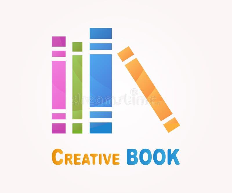 Wektorowy loga projekta element Książka, czyta, biblioteka ilustracja wektor