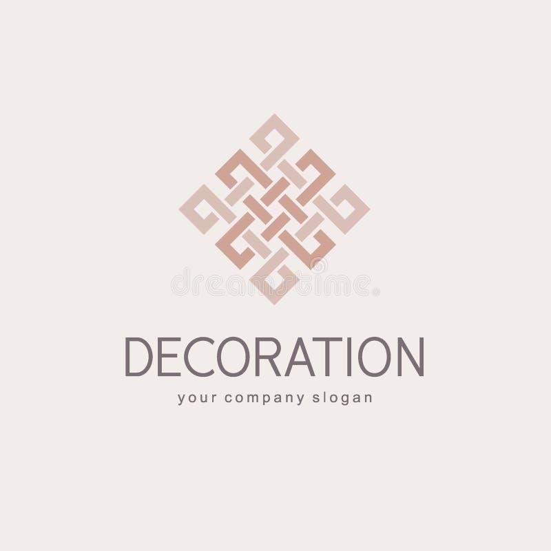 Wektorowy loga szablon dla butika hotelu, restauracja, biżuteria Luksusowy monogram ikona abstrakcyjna royalty ilustracja