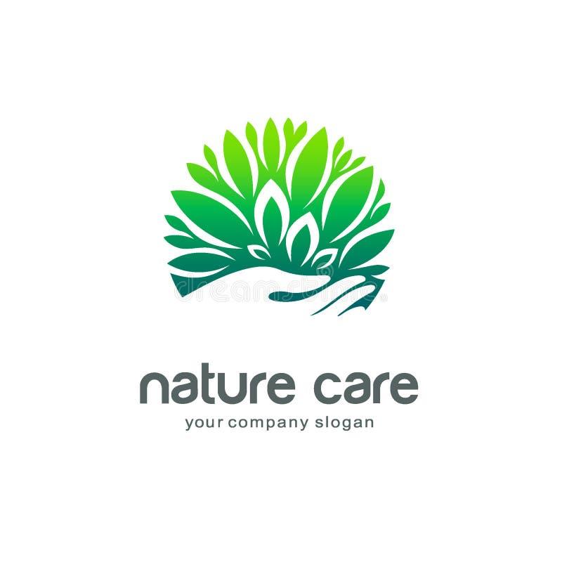 Wektorowy loga szablon Natury opieka ilustracja wektor