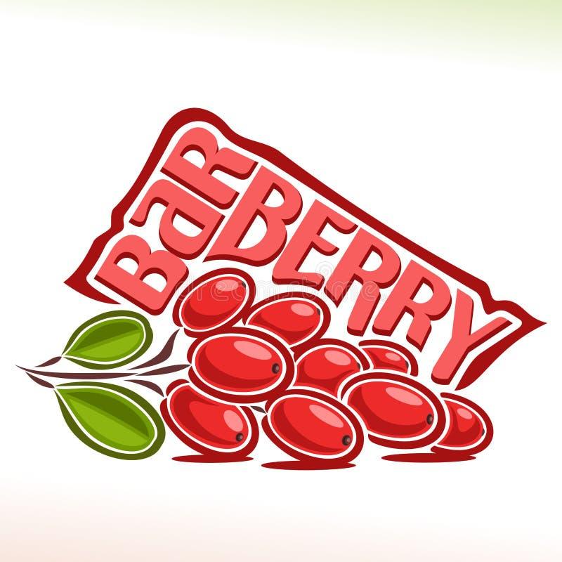 Wektorowy logo dla berberysu pospolitego ilustracji