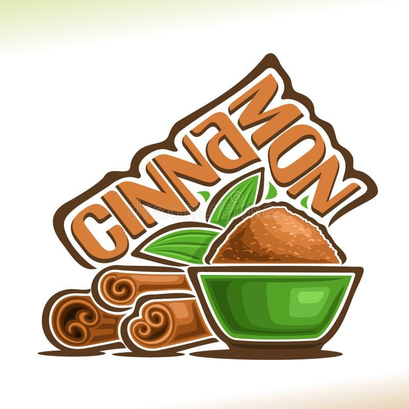 Wektorowy logo dla Cynamonowej pikantności royalty ilustracja