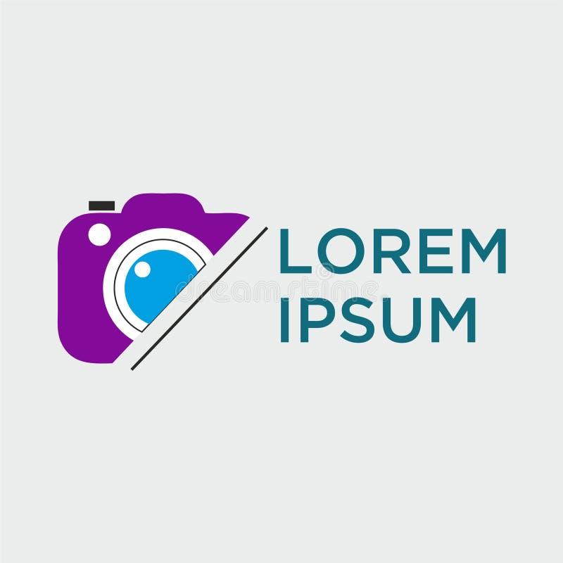 Wektorowy logo dla fotografa ilustracja wektor