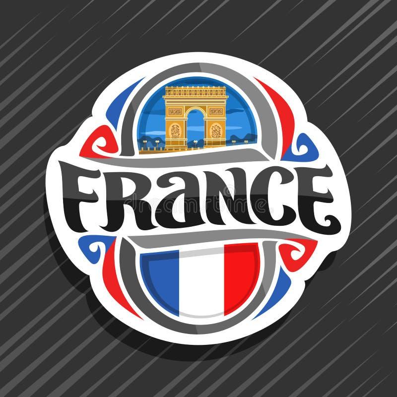 Wektorowy logo dla Francja ilustracja wektor