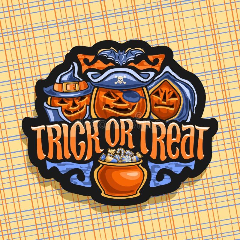 Wektorowy logo dla Halloween royalty ilustracja