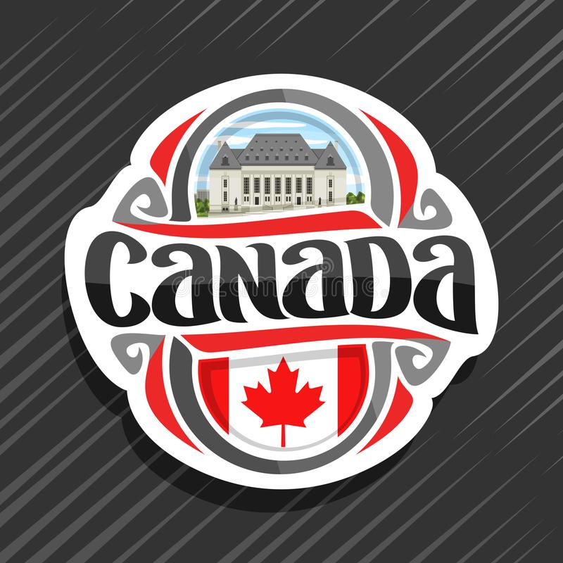 Wektorowy logo dla Kanada ilustracji