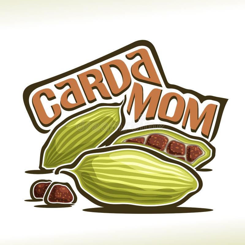 Wektorowy logo dla kardamonu ilustracji