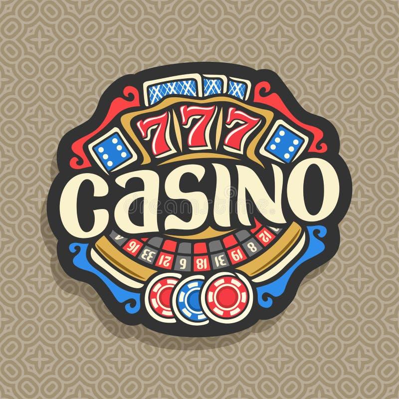Wektorowy logo dla kasyna royalty ilustracja
