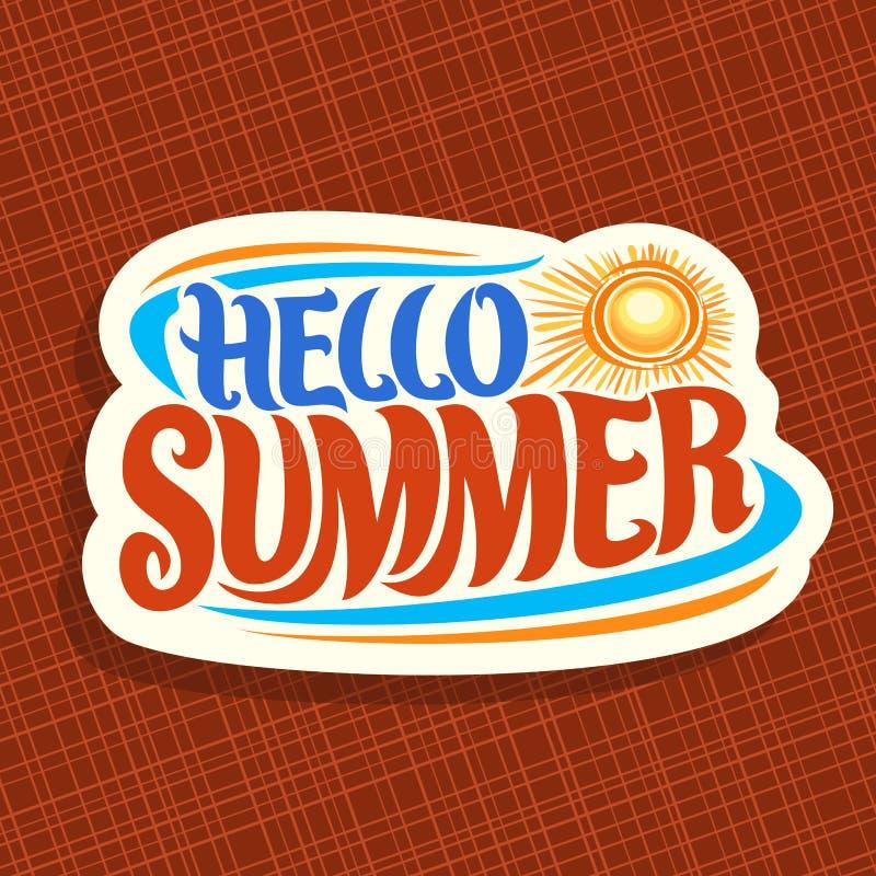 Download Wektorowy Logo Dla Lato Sezonu Ilustracja Wektor - Ilustracja złożonej z wycena, chrzcielnica: 106904690