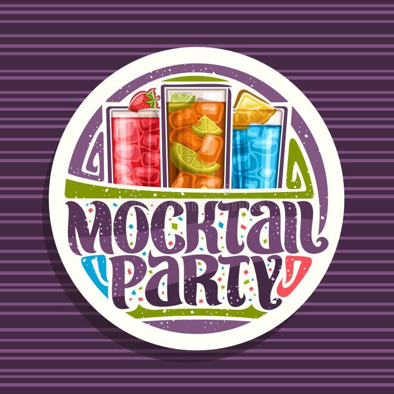 Wektorowy logo dla Mocktail przyjęcia ilustracji