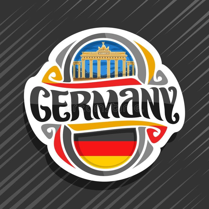 Wektorowy logo dla Niemcy ilustracja wektor