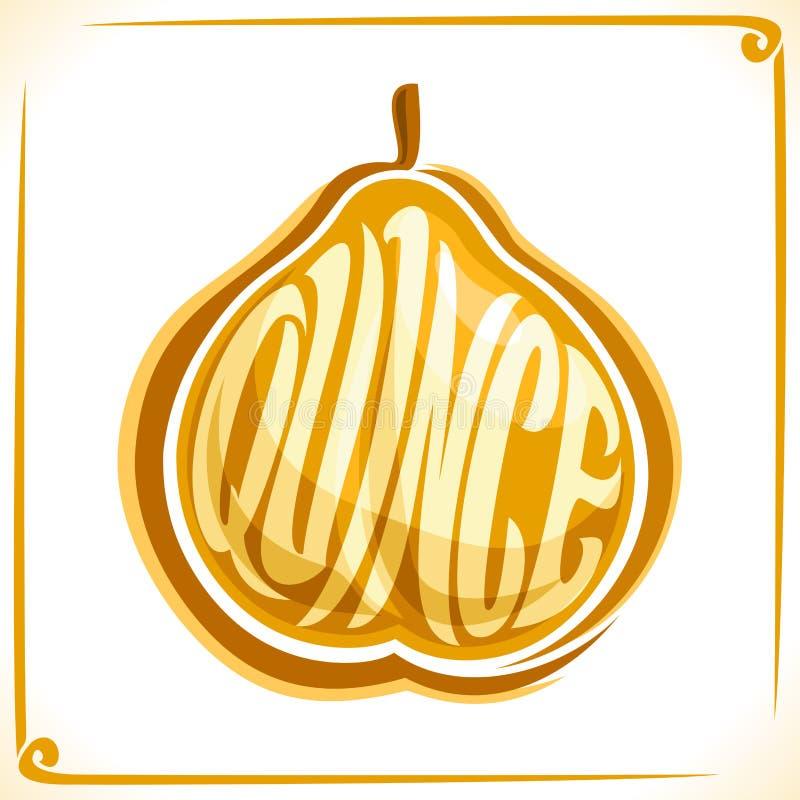 Wektorowy logo dla pigwy owoc ilustracji