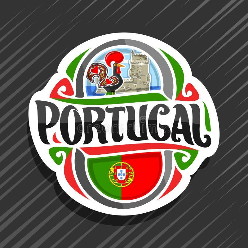Wektorowy logo dla Portugalia ilustracja wektor