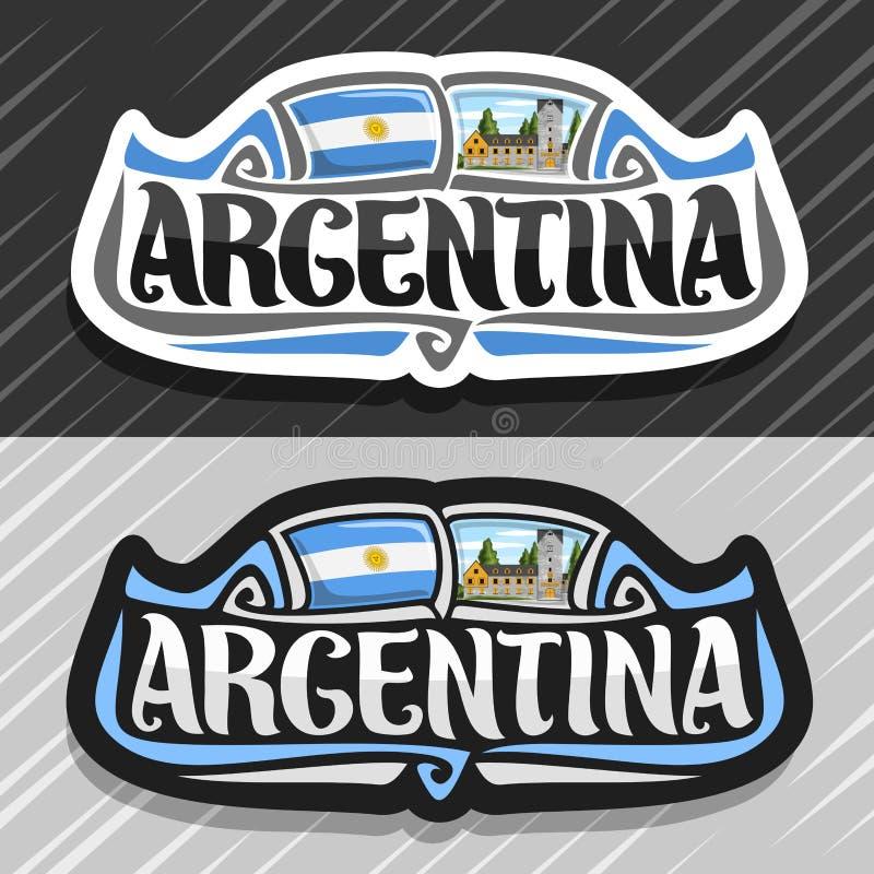 Wektorowy logo dla republiki Argentyna ilustracja wektor