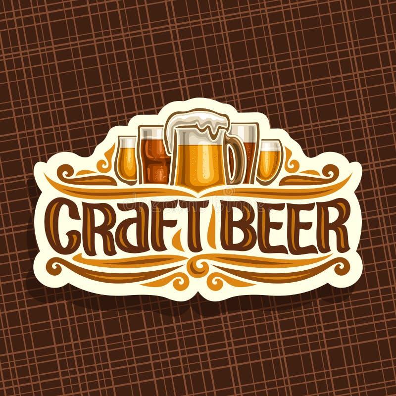 Wektorowy logo dla rzemiosła piwa ilustracji