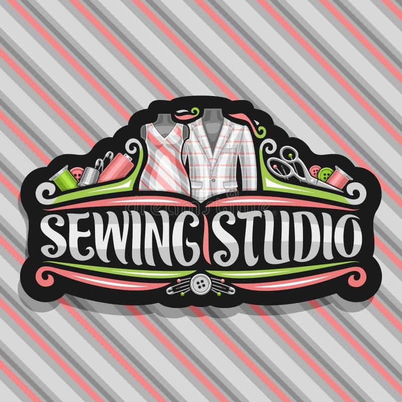 Wektorowy logo dla Szwalnego studia ilustracji