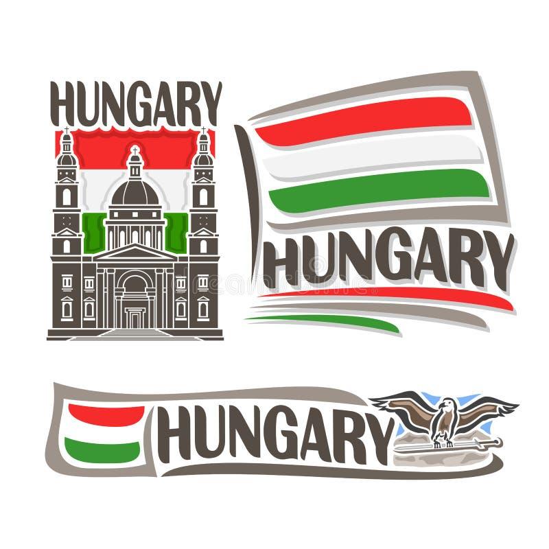Wektorowy logo dla Węgry ilustracji