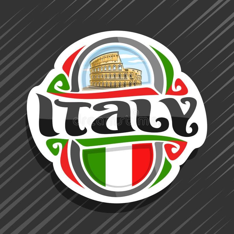 Wektorowy logo dla Włochy ilustracja wektor