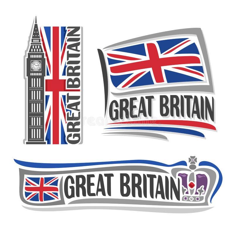 Wektorowy logo dla Wielkiego Brytania royalty ilustracja