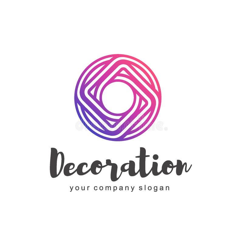 Wektorowy logo dla wnętrza, mebli sklepów, wystrój rzeczy i domowej dekoraci, royalty ilustracja