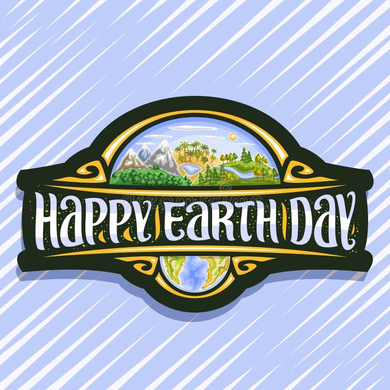 Wektorowy logo dla Ziemskiego dnia royalty ilustracja