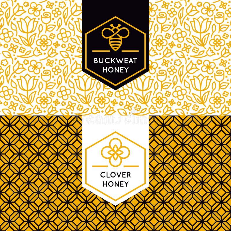 Wektorowy logo i pakować projektów szablony w modnym liniowym stylu ilustracji