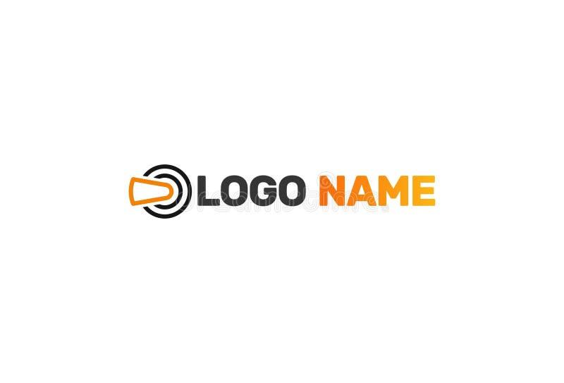 Wektorowy logo projekt Dla rzeczywistości wirtualnej ilustracji