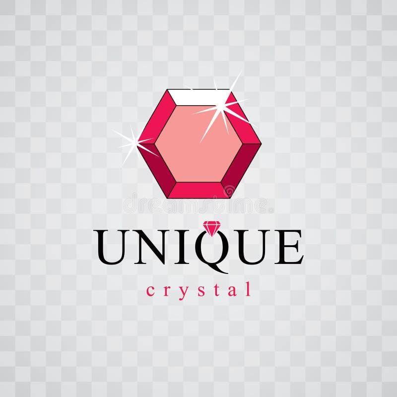 Wektorowy luksus faceted dekoracyjny element Glansowany diamentu znaka em ilustracja wektor