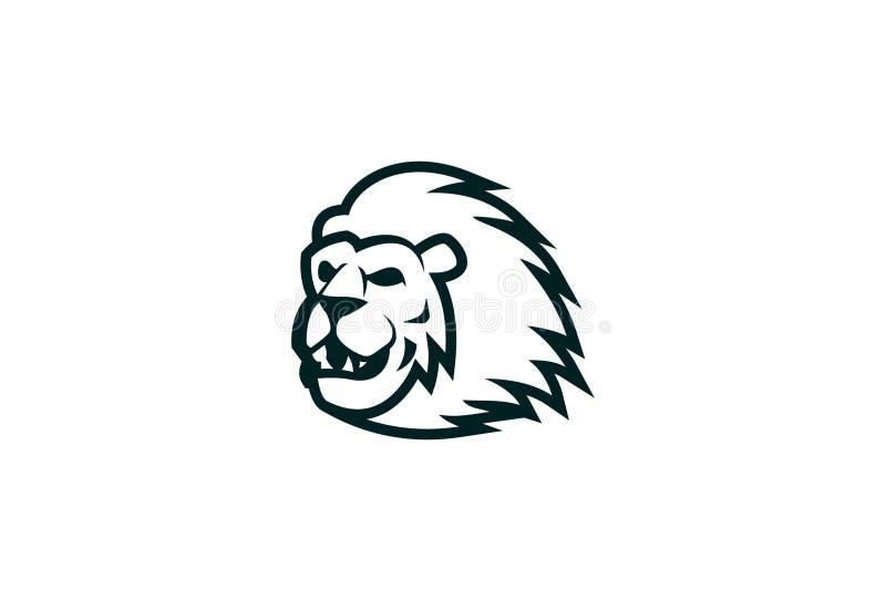 Wektorowy lwa logo projekt royalty ilustracja