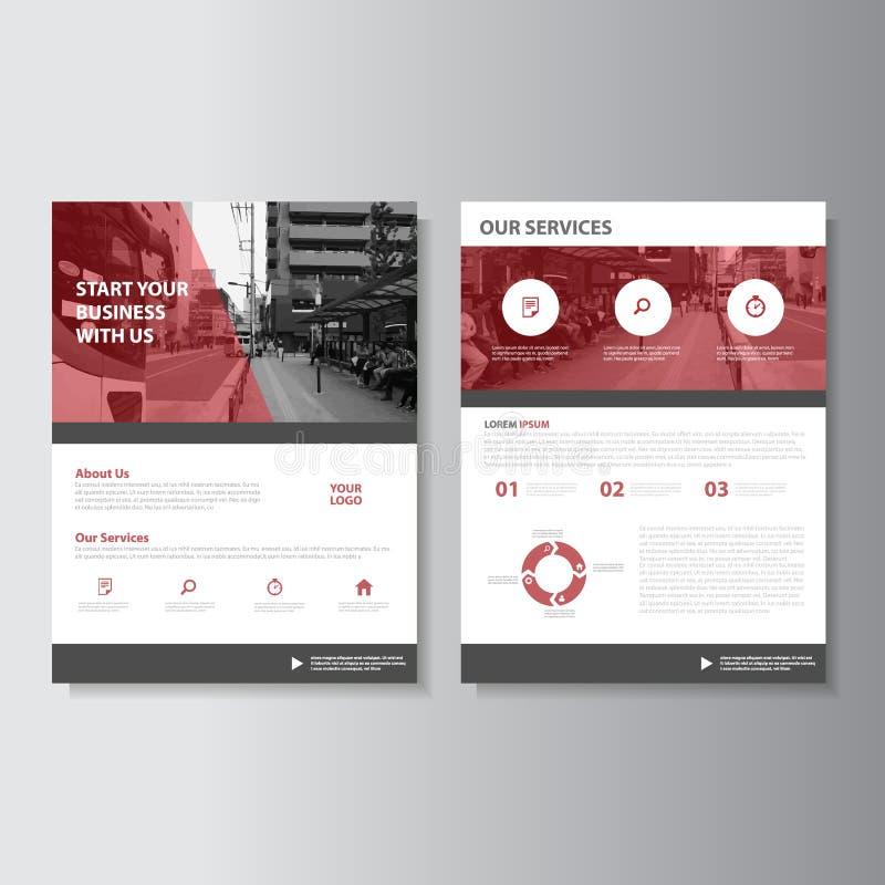 Wektorowy magazynu sprawozdania rocznego ulotki broszurki ulotki szablonu projekt, książkowej pokrywy układu projekt royalty ilustracja