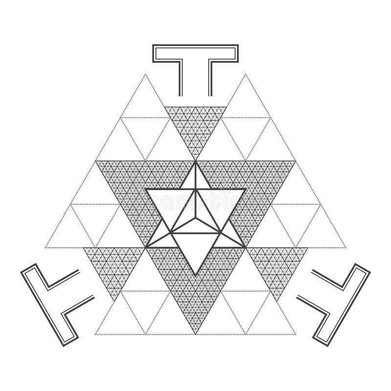 wektorowy mandala geometrii święta ilustracja ilustracja wektor