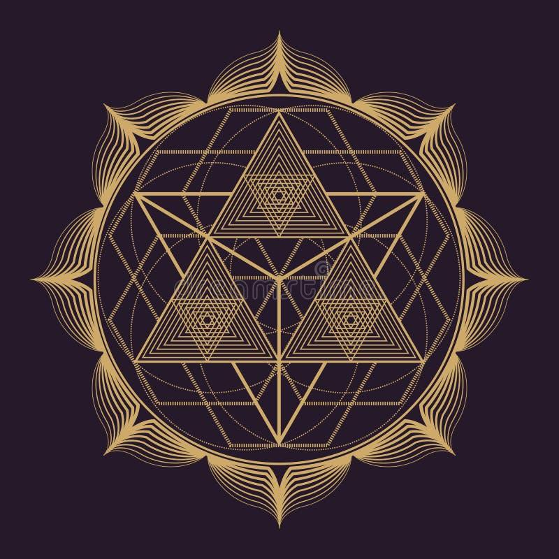 wektorowy mandala geometrii święta ilustracja royalty ilustracja
