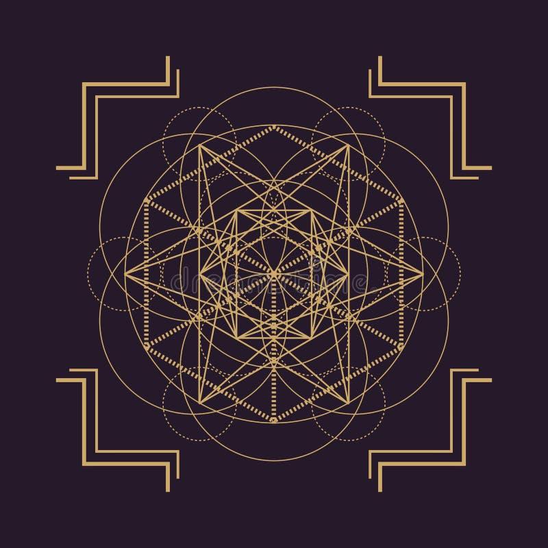 wektorowy mandala geometrii święta ilustracja ilustracji