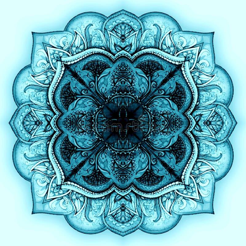 Wektorowy mandala symbol - piękny tło z royalty ilustracja