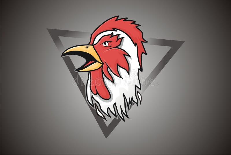 Wektorowy maskotka loga kurczak obraz stock