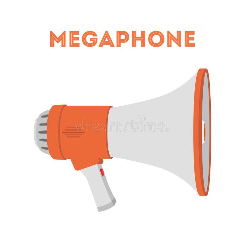Wektorowy megafon, przyrząd ogłaszać wiadomość ilustracja wektor