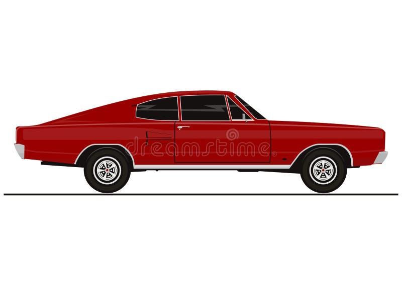 Wektorowy mięśnia samochód royalty ilustracja