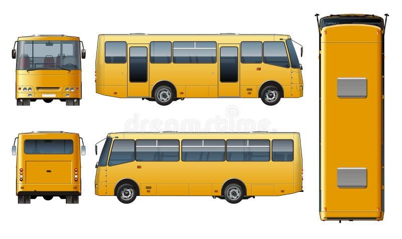 Wektorowy miastowy pasażerski autobusu egzamin próbny royalty ilustracja