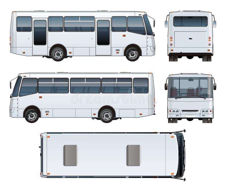 Wektorowy miastowy pasażerski autobusu egzamin próbny ilustracji