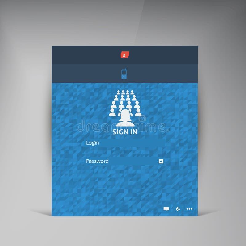 Wektorowy mieszkania UI projekta trendu interfejs ilustracji