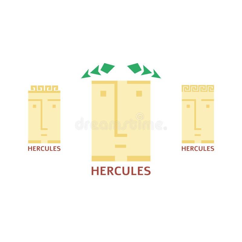 Wektorowy minimalistic Hercules głowy logotyp ilustracji
