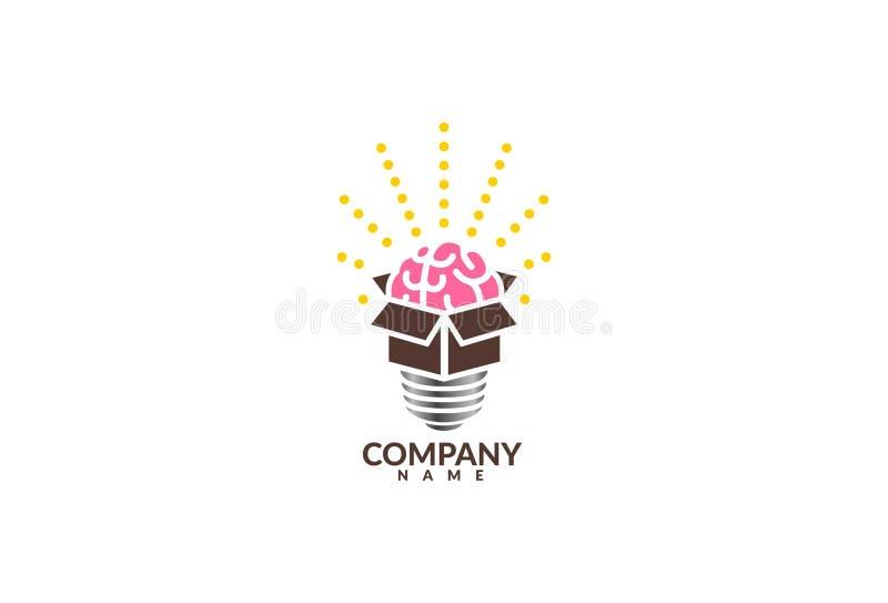 Wektorowy modny zewnętrzny pudełkowaty logo projekt royalty ilustracja