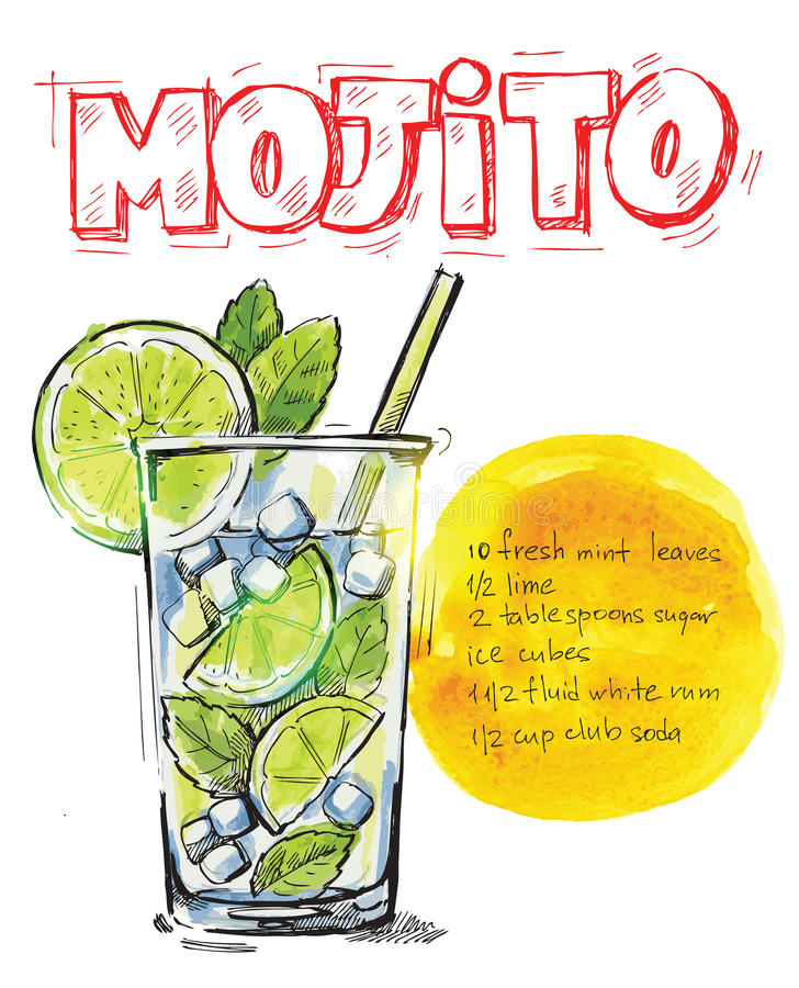 Wektorowy mojito ilustracji