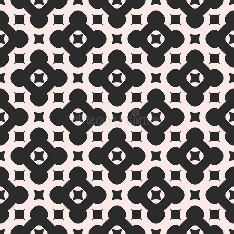 Wektorowy Monochromatyczny bezszwowy wzór Abstrakcjonistyczny niekończący się geometryczny royalty ilustracja