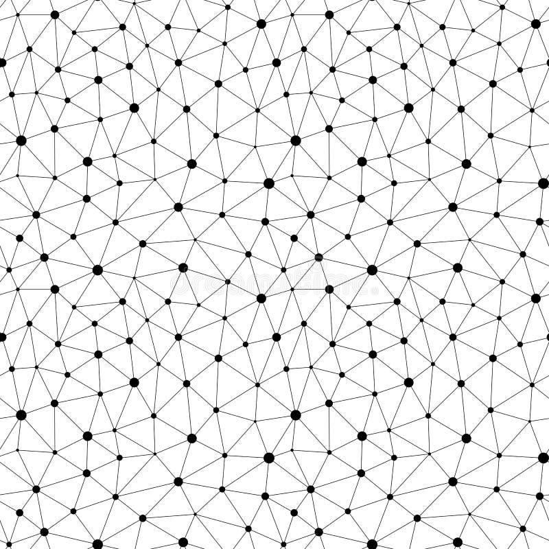 Wektorowy Monochromatyczny bezszwowy wzór Nieregularna abstrakcjonistyczna tekstura royalty ilustracja