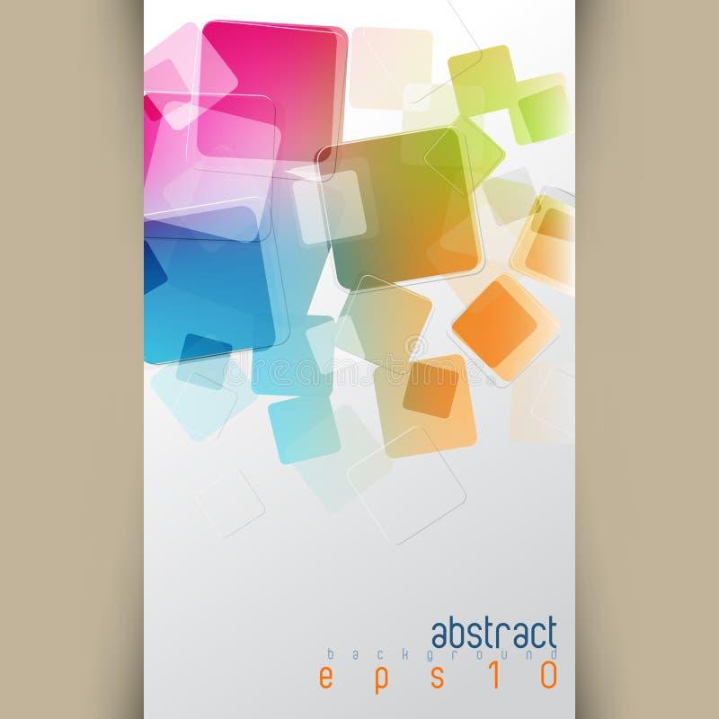 Wektorowy multicolor pokrywa się kwadrata pojęcia tło ilustracji
