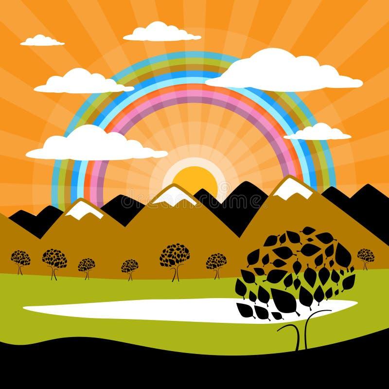 Download Wektorowy Natury Tło Z Górami Ilustracji - Ilustracja złożonej z krajobraz, tło: 57656059