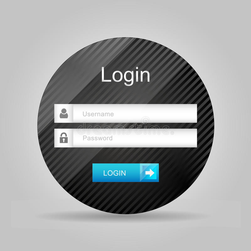 Wektorowy nazwa użytkownika interfejs - username i hasło ilustracji